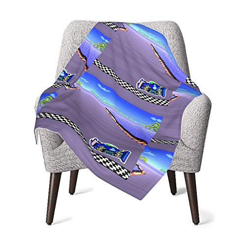 F-Zero SNES Colors Baby Blanket Super Soft Printed Blanket Receiving Blanket for Boys Girls, Stroller, Crib, Newborns, Receiving