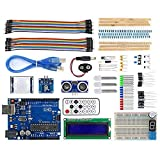 REES52 Arduino Uno Based Super Starter Kit with Full Learning Guide The tutorial consists several experiments, such as Button Controlled LED, Light Controlled LED, 1602 LCD Display, Infrared Remote Control, etc., rich and varied Projects, can gradual...