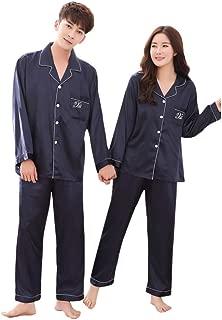 Wadonerful Women Pyjamas Set Home Clothing Long Sleeve Comfortable Button Sleepwear Pants Casual Couple Nightgown Shirts