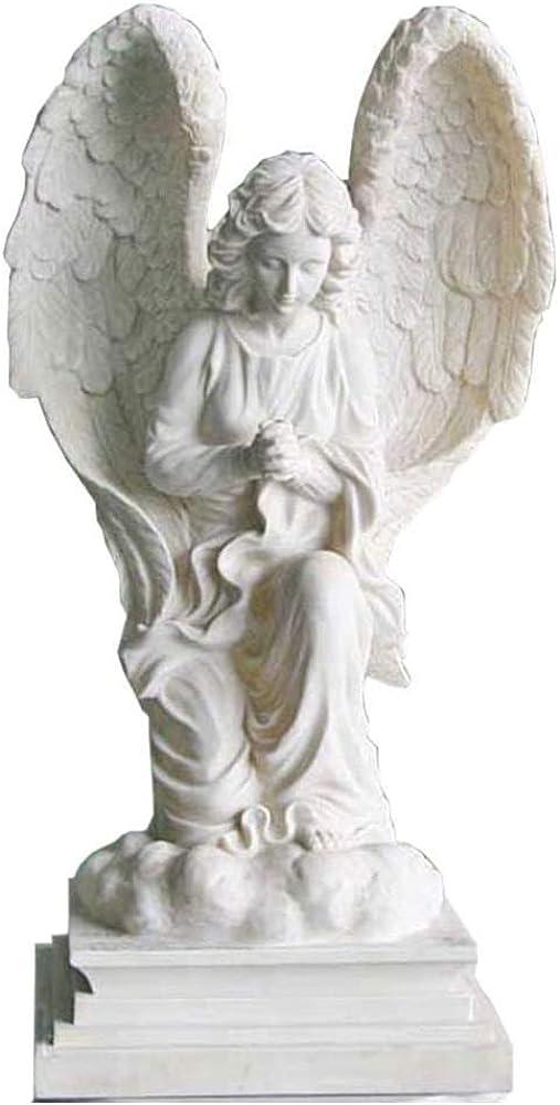 Tqj statua da giardino, statua che rappresenta angelo che prega, in resina 55 cm