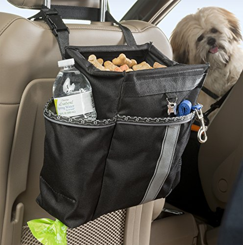 High Road Dog Car Seat Organizer with Waste Bag Dispenser
