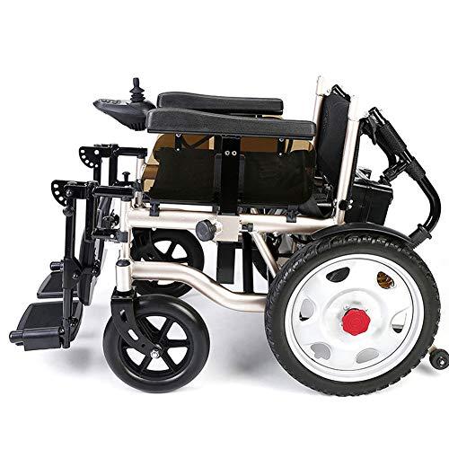 WangXN Opvouwbare elektrische rolstoel, lichtgewicht constructie, voor lucht- en ruimtevaart, aluminium, met dubbele krachtige motor