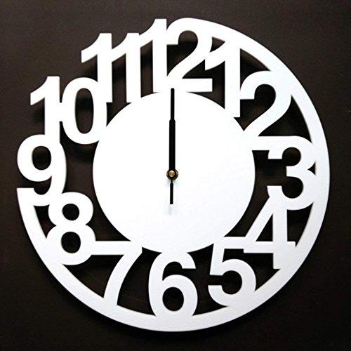 EDSAF Reloj de Pared Reloj Azul Metalizado Ronda Gran Silencio Silencio Moderno Apto para Dormitorio y Sala de Estar y hogar & Cocina tamaño 55cm (Color : C)