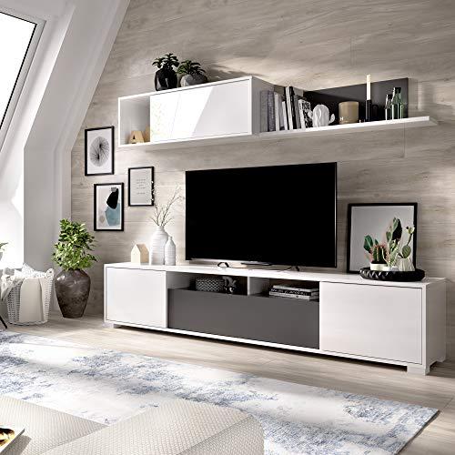HOMEKIT Mueble salón Comedor Moderno, 200x180x41 cm