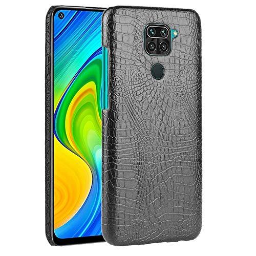 Dmtrab Phone Case para Xiaomi Redmi Note 9 /Redmi 10x Caja 4G,Textura de cocodrilo a Prueba de Golpes PC +PU Funda Protectora de PU(Negro) Tapa de Paquetes (Color : Light Green)