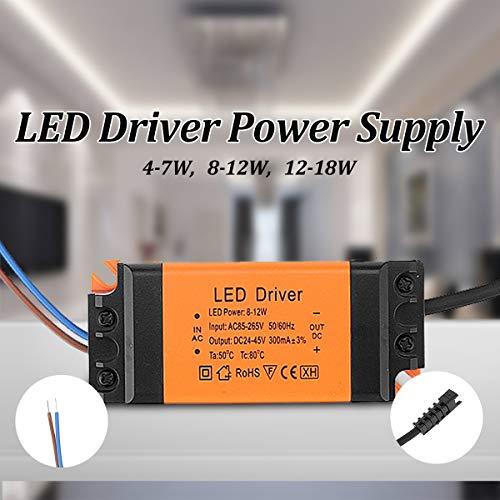 Controlador de LED 4-18W AC85-265V for DC12-82V LED de la fuente de alimentación del conductor de corriente constante for Proyector lámpara del techo, precio alto-efectiva (Size : 12-18W)
