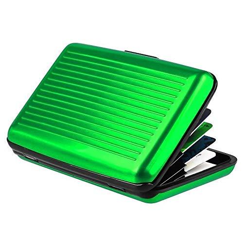 Walet Europäische Bankkarte und amerikanische TV-Sekundär, aus Aluminium, wasserdicht, antimagnetisch, grün (Grün) - Trihedral-X