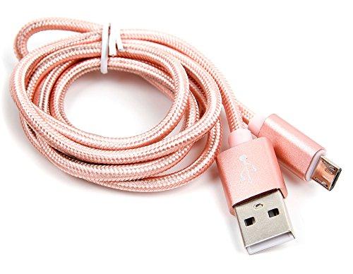 DURAGADGET Câble USB Rose Gold Compatible avec Huawei Honor Tablet, MediaPad T1, M2, M3 et X2, MediaPad 7 Lite et 10 Link tablettes tactiles - Port Micro USB