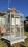 """2 Color, 78"""" Large Play Top Bird Cage Parrot Finch Macaw Cockatoo Bird Wrought Iron Cage"""