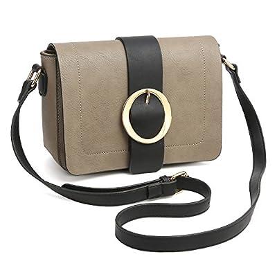 Women Vegan Leather Crossbody Shoulder Bags Designer Fashion Purses Structured Messenger Bags