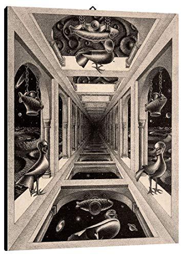 Quadro Escher cod. 55 cm 35x50 Stampa su Tela Canvas intelaiato Pronto da Appendere Vendita Falsi di Autore Il Negozio di Alex