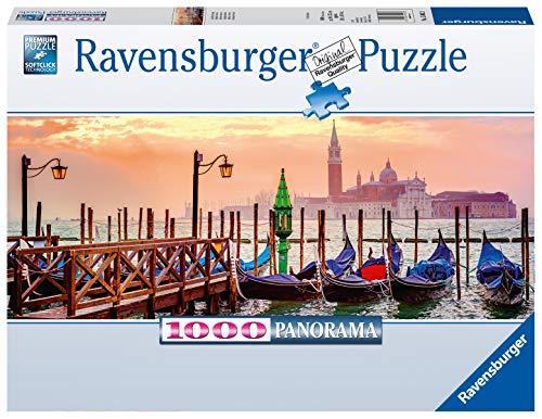 Ravensburger Puzzle, Puzzle 1000 Pezzi, Gondole a Venezia, Formato Panorama, Puzzle per Adulti, Puzzle Venezia, Puzzle Ravensburger - Stampa di Alta Qualità