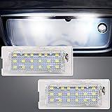 Luce targa a LED, YuanGu 18-SMD LED Numero di targa Luce di ricambio per auto lampada Accessori con errore libero Canbus per B-M-W X5 E53 X3 E83 03-10 (confezione da 2)