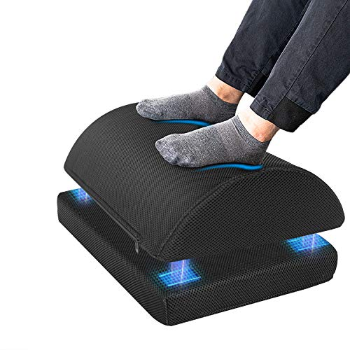 Ximoon Foot Rest for Under Desk at Work,Adjustable Foot Stool with Handle Non-Slip Bottom,Soft Yet Firm Ergonomic Design for Home Office Gaming Car to Relieve Lumbar,Back,Knee Pain