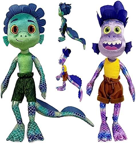 M&X Luca Plush Pixar Disney Luca Alberto Seamonster Plush Toy Doll Cartoon Lu-ca Stuffed Animals Plush Toys Gifts for Kids Valentine's Day Christmas Birthday,Luca Alberto
