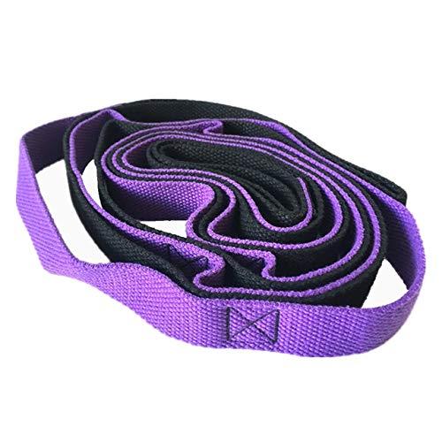 HATCHMATIC Yoga Stendi Yoga Strap con 2M Flessibili Loop Pilates sessioni di Yoga s Fitness & amp; Body Building Accessori Nuovo: Viola