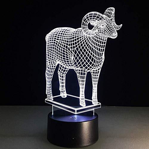3D nachtlampje schaap vorm 3D LED lamp sfeerverlichting illusie licht kerstcadeau creatief modelleren acryl sfeerlicht cadeau voor vrienden of kinderen