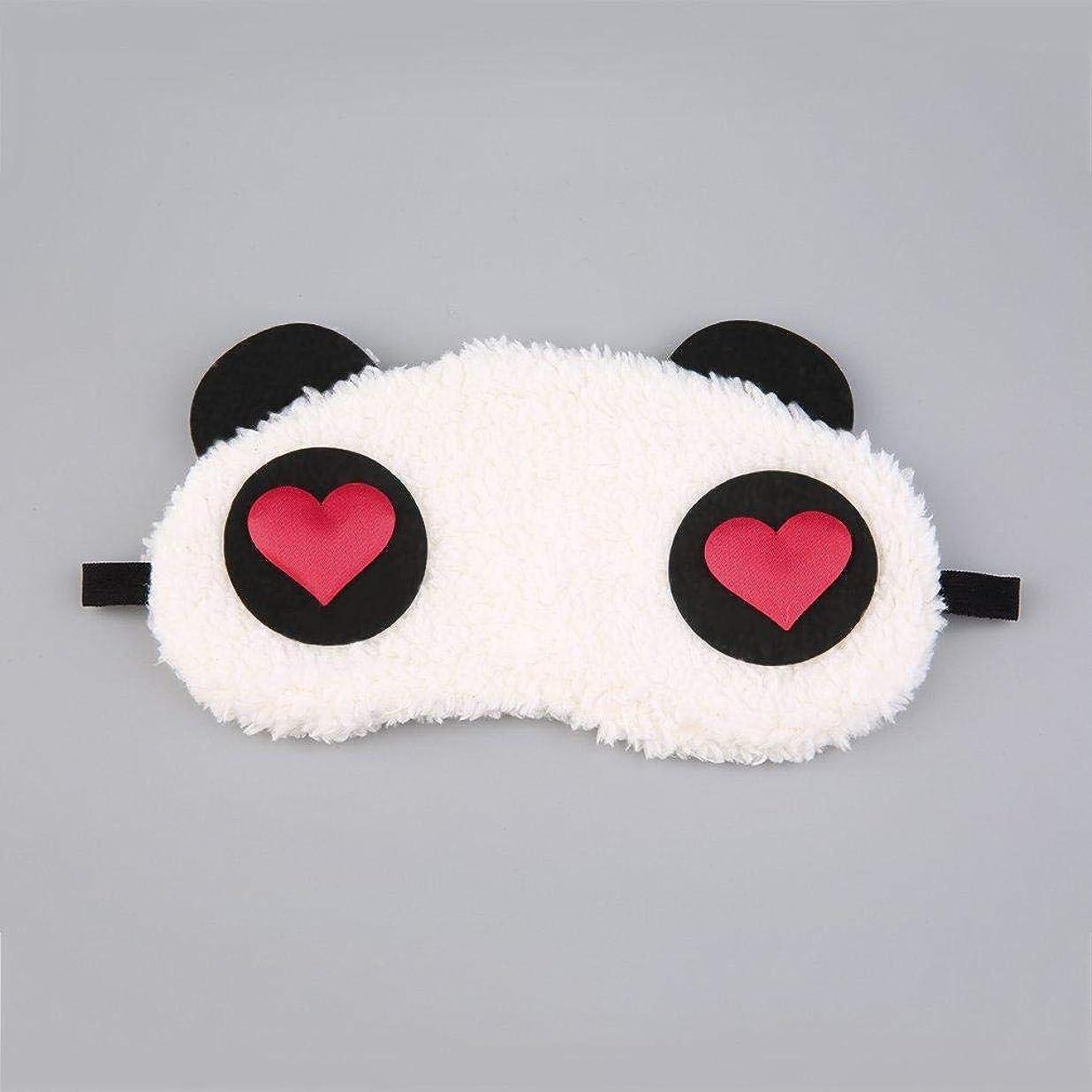 アサート飼い慣らす適応的NOTE かわいい顔ホワイトパンダアイシェードシェーディングコットンゴーグルアイマスク睡眠アイカバーコットンゴーグルアイマスク睡眠マスクアイカバー