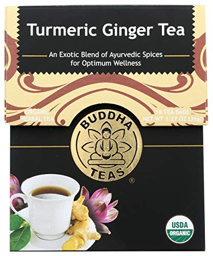 Buddha Teas Turmeric Ginger Tea, 18Count,, (Pack Of 6)