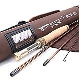 Maxcatch V-gold Fliegenrute IM12 Graphite 4-teilig Fliegenfischen Rute mit Cordura Rutentasche(Größe:4/5/6/8 wt) (9Ft 6wt)