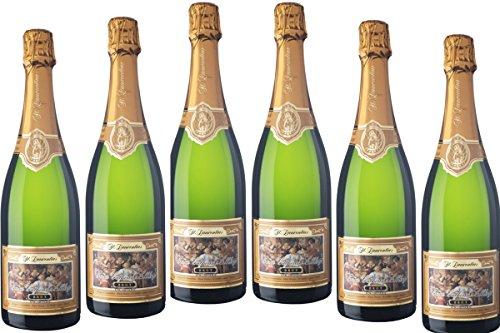 6 Flaschen St. Laurentis Sekthaus Elbling Brut Cuvée Catherine Klassische Flaschengärung Deutscher Sekt b. A. 2015