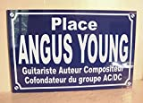 Placa de calle de Angus Young, guitarrista compositor del grupo AC, DC, edición limitada para coleccionista