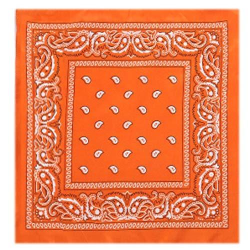 Yener outdoor katoen fietsen sport bandana hoofdband bedrukte hiphop sjaal, oranje
