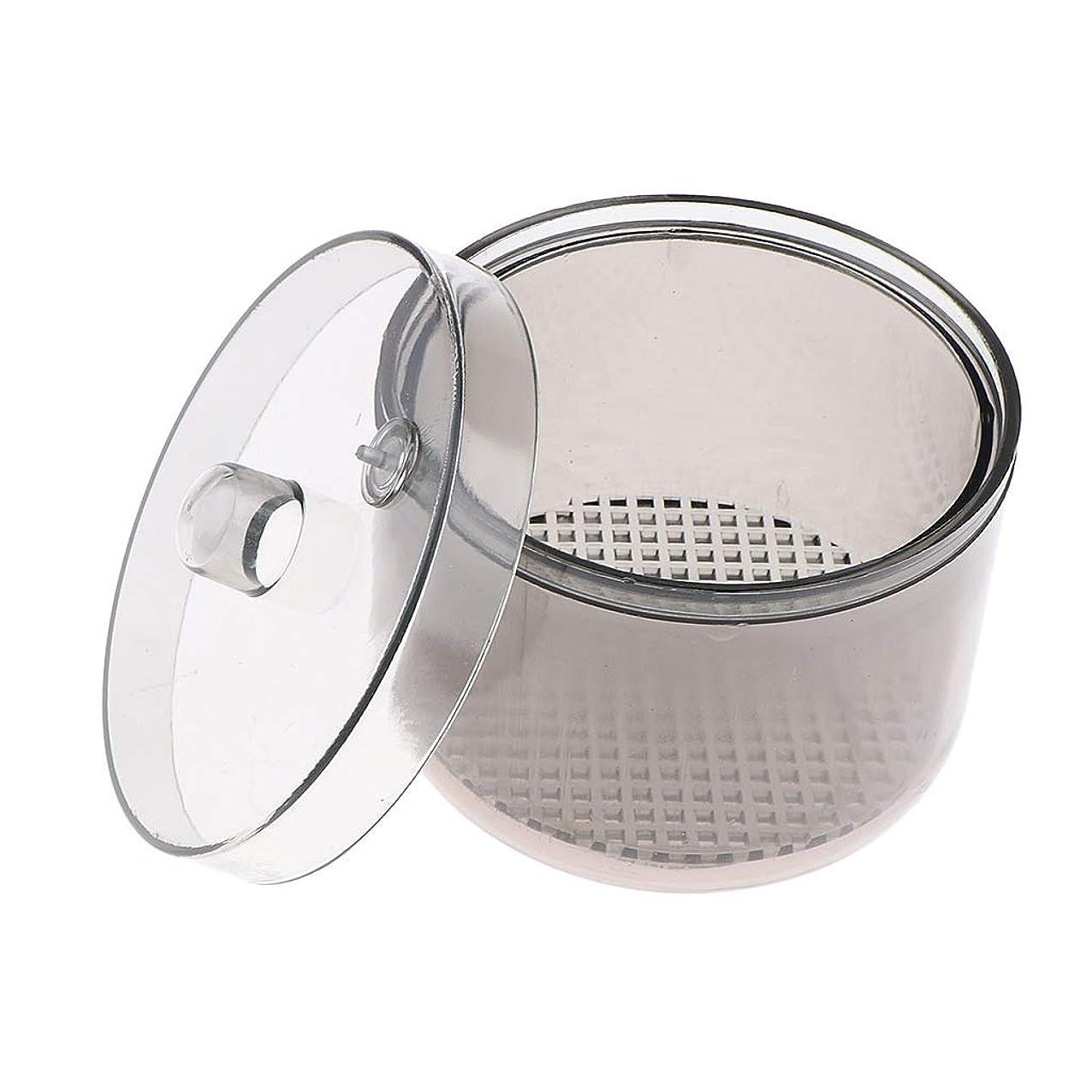 バイアスサラダコンペT TOOYFUL 消毒カップ マニキュアツール 滅菌容器 消毒ジャー 丸型 軽量 コンパクト 持ち運び便利 耐高温性