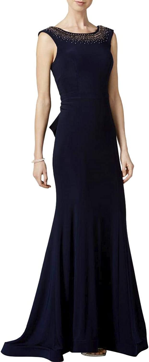Xscape Womens Ruffle Formal Evening Dress