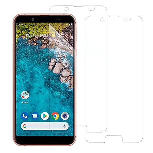 [2枚入り] LOOF Android One S7 用 保護フィルム 簡単貼り付け 画面保護 ソフトフィルム 気泡なし 傷防止 割れ防止 フィルム 耐衝撃 衝撃吸収 高感度 高透過率 保護シート [Android One S7/クリア仕様]