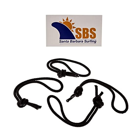 Sbs leash string cord for surfboard, longboard and sup - 4 pack 4 made in the usa made from 400lb test strength rope optimum length