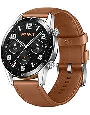 Huawei 55024321 Watch GT 2, Met Hartslagmeting, Bluetooth Telefonie - 5ATM Waterdicht, Bruin, 1.07 x 4.59 x 4.59 cm