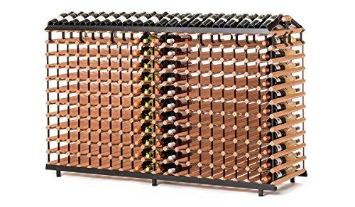 RAXI Vinothek Premium - Botellero de madera de haya con diseño de lujo, ideal para presentar tu vino o vinothek, 480 botellas