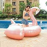 HECHEN Tamaño de la Cama Flotante Inflable del Agua: 190 * 190 * 130 cm Adulto Rosa Dorada Gran Flamenco Montaje Flotante Fila Nadar Anillo de Juguete acuático