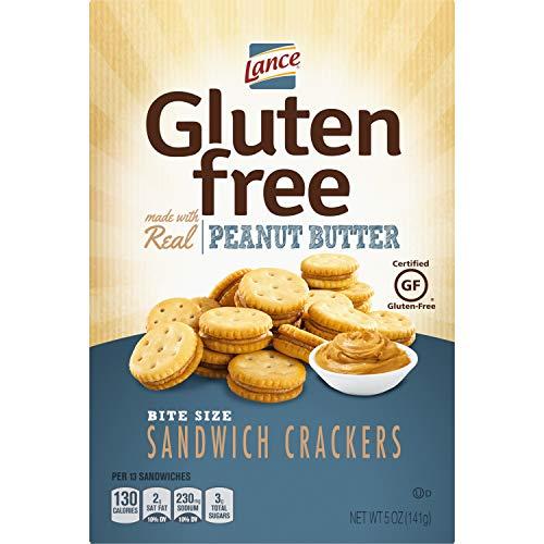 Lance Sandwich Crackers, Gluten Free Peanut Butter Bite Sized, 5 Oz Box