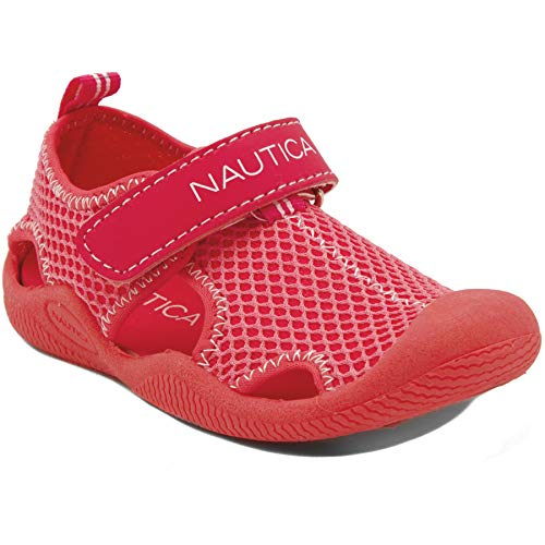 Nautica Kids Kettle Gulf Protective Water Shoe,Closed-Toe Sport Sandal-Pink/LT Pink-10