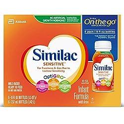 Similac Sensitive On-the-Go Infant Formula, 48 Fluid Ounce