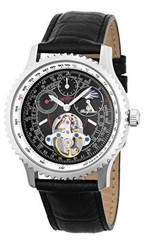 Burgmeister Armbanduhr für Herren mit Analog Anzeige, Automatik-Uhr und Lederarmband - wasserdichte Herrenuhr mit zeitlosem, schickem Design - Klassische Uhr für Männer - BM351-122 Henderson