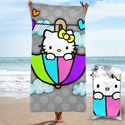 JJKKFG-H Hello Kitty Toalla de secado rápido, ligera, para toallas de baño suaves para piscina, natación, viajes, silla de playa, 31.5 pulgadas X63
