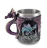 Purple Gothic Dragon Decorative Tankard Celtic Knot Work Mug/Pencil Holder