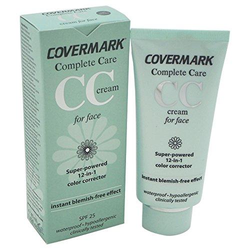Covermark Complete Care - CC cream para el rostro, 40 ml, corrector de tono de piel 12 en 1 - Marrón suave