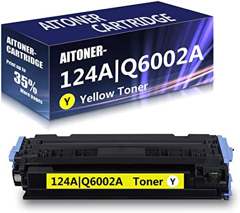 1 Pack Yellow 124A Q6002A Remanufactured Toner Cartridge Replacement for HP Color Laserjet 1600 product image