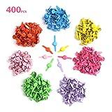DIYASY 400 Pcs Color Brads,8x12mm Mini Metal Paper Fasteners for Scrapbooking Crafts DIY Paper.
