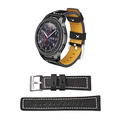 22 mm Horloge Band Lederen Vervanging Smartwatch Band Polsgesp Riem Met Snelle Release Pin Voor Samsung Gear S3 Frontier/Classic TH833 Elektronische Accessoires Elektronische Accessoires