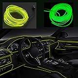 Kmruazre Striscia Led Flessibile Con Luci Al Neon, Per Auto, Cavo Elettroluminescente, DC 12V (5m/16ft, Verde fluo)