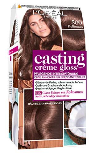 L\'Oréal Paris Casting Creme Gloss Pflege-Haarfarbe, 500 Hellbraun