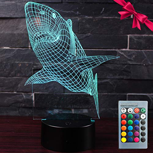 Dinosaur 3D Night Light - Optical Illusion Lamp 7 Colors...
