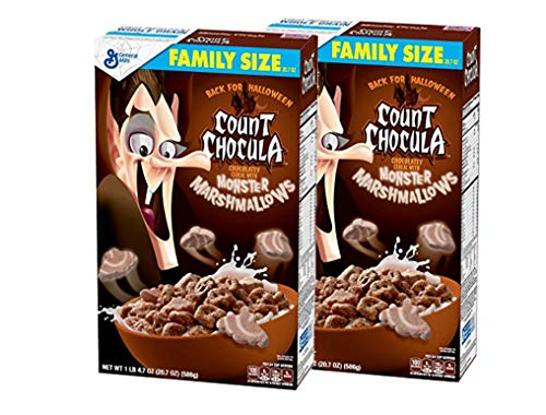 General Mills Count Chocula Chocolatey Halloween Breakfast Cereal with Monster Marshmallows: Family...