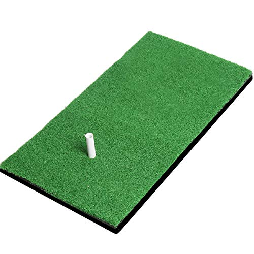 Golf practice Mat Turf Grass Mat and 1 Rubber Tee with Golf Tees,Tight Lie,Rough and Fairway for Driving,Chipping and Putting Golf practice and Training Indoor residential practice batting mat-12X24in