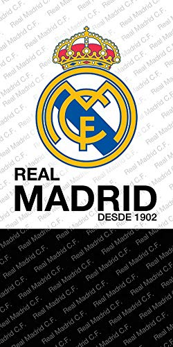 DHestia - Real Madrid Toalla de Baño y Playa de Microfibra. 70x140 cm. RM182001